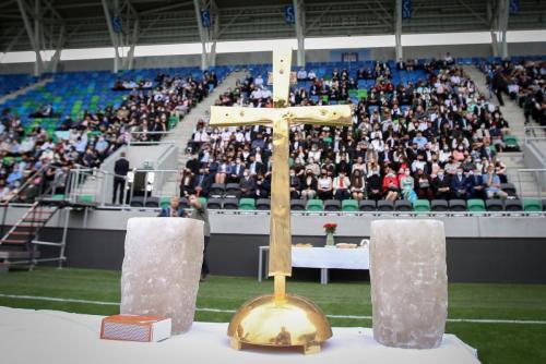 Bérmálási szentmise a Szent Gellért Fórumban
